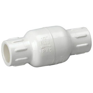 Homewerks VCK-P40-E7B In-Line Check Valve, Solvent x Solvent, PVC Schedule 40