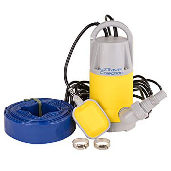 Professional EZ Travel Collection Hot Tub and Swimming Pool Drain Pump